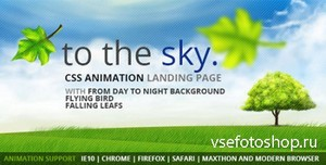 ThemeForest - to the Sky CSS Animation Landing Page - RIP