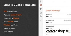 ThemeForest - Simple v1.0 - Virtual Business Card Template - FULL