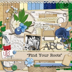 Scrap Set - Find Your Roots PNG and JPG Files