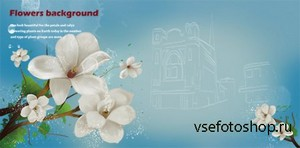 PSD Source - Flowers Background 2013