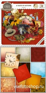 Scrap Set - A Taste of Autumn PNG and JPG Files