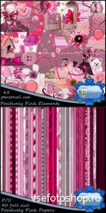 Scrap Set - Positively Pink PNG and JPG Files