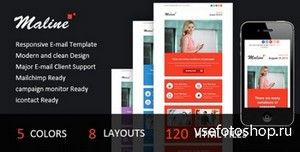 ThemeForest - Maline - Responsive E-mail Template - RIP