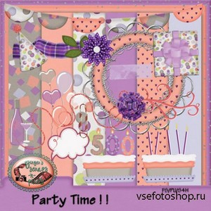 Scrap Set - Party Time PNG and JPG Files