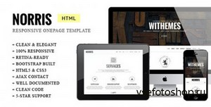 ThemeForest - Norris - Elegant Retina-ready Onepage Template - RIP