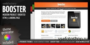 ThemeForest - Booster - Product Focused HTML5 Landing Page - FULL