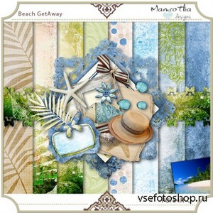 Scrap Set - Beach getAway PNG and JPG Files