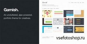 ThemeForest - Garnish v1.4 - Clean-Cut WordPress Portfolio Theme