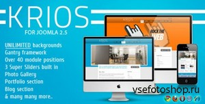 ThemeForest - Krios v2.0 - Template for Joomla 2.5