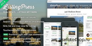 ThemeForest - ListingPress v1.1.3 - Real Estate & Listings WP Theme