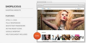 ThemeForest - Shopilicious HTML - Shopping Website - RIP