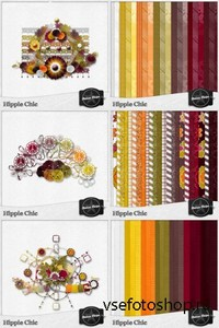 Scrap Set - Hippie Chic PNG and JPG Files
