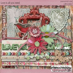 Scrap Set - Love is all You Need PNG and JPG Files