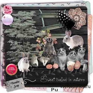 Scrap Set - Sweet Ballad in Autumn PNG and JPG Files