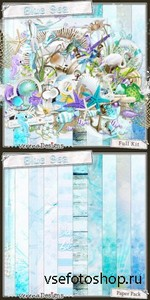Scrap Set - Blue Sea PNG and JPG Files