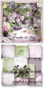 Scrap Set - Poudre de Fee PNG and JPG Files