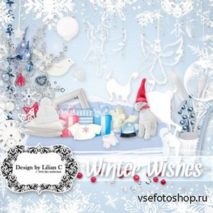 Scrap Set - Winter Wishes PNG and JPG Files