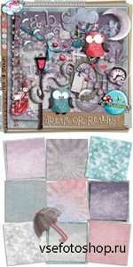 Scrap Set - Dream Or Reality PNG and JPG Files