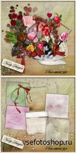 Scrap Set - Avec Amour PNG and JPG Files