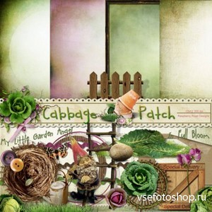 Scrap Set - Cabbage Patch PNG and JPG Files