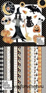 Scrap Set - Candy Corn & Rattlebones PNG and JPG Files