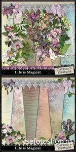 Scrap Set - Life is Magical PNG and JPG Files