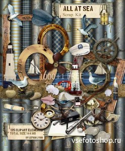 Scrap Set - All At Sea PNG and JPG Files