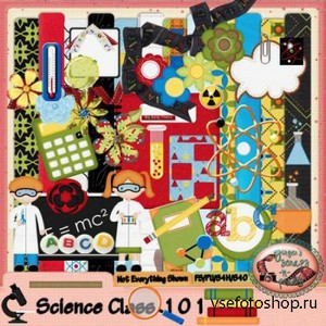 Scrap set - Science Class 101 PNG and JPG Files