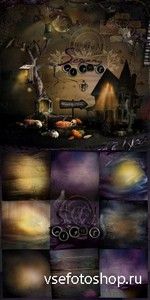 Scrap Set - Scarry Night PNG and JPG Files