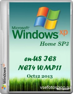 Windows Xp Home edition SP3 Integrate October 2013 (x86/RUS/ENG)