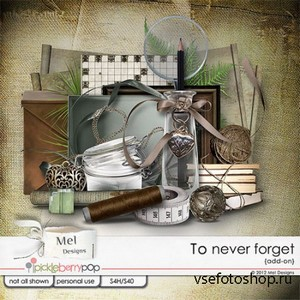 Scrap Set - To Never Forget PNG and JPG Files