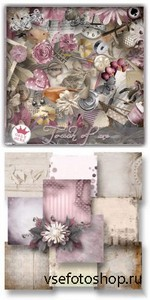 Scrap Kit - Touch of Me PNG and JPG Files
