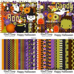 Scrap Set  Happy Halloween PNG and JPG Files