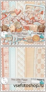 Scrap Set - This Little Piggy PNG and JPG Files