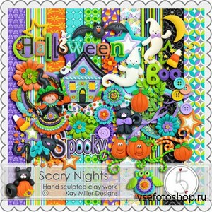 Scrap Kit - Scary Nights PNG and JPG Files