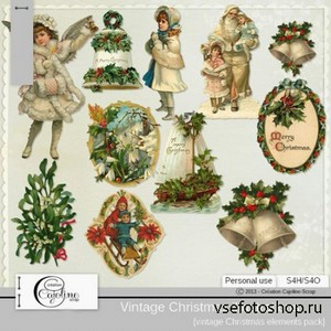 Vintage Christmas Illustration 7 PNG Files