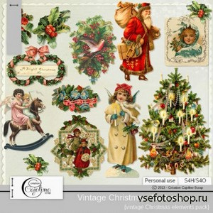 Vintage Christmas Illustration 8 PNG Files
