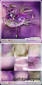 Scrap Set - Purplesque PNG and JPG Files