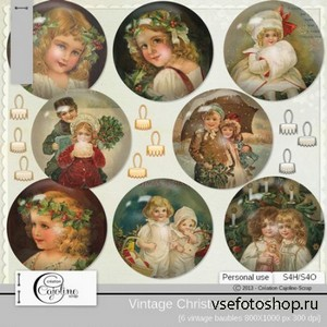 Vintage Christmas Baubles PNG Files