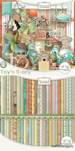 Scrap Set - Toys Story PNG and JPG Files