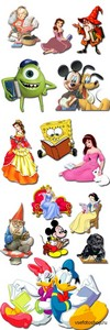 Cartoon Characters on a Transparent Background PNG Files