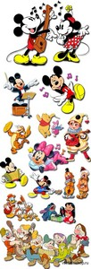 Cartoon Characters on a Transparent Background 2 PNG Files