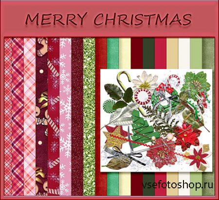 MErry Christmas Scrap Kit