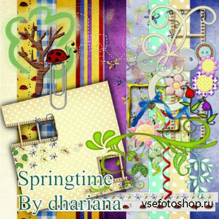 Scrap - Springtime Kit PNG and JPG Files