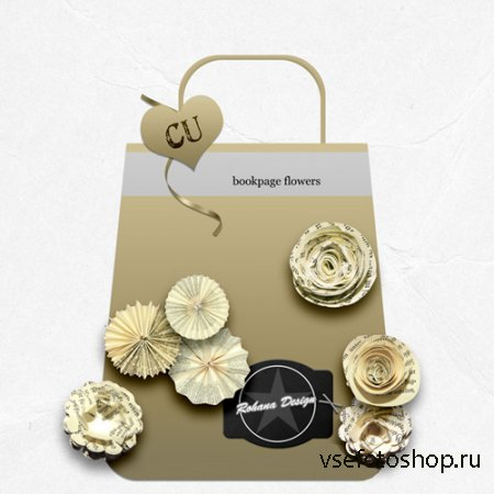 Bookpage Flowers Set PNG Files