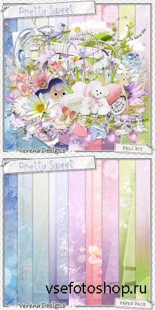 Scrap - Pretty Sweet Kit PNG and JPG Files