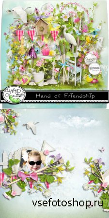 Scrap Set - Hand of Friendship PNG and JPG Files