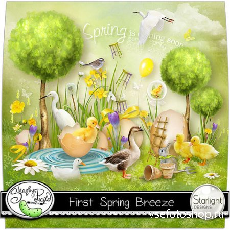 Scrap - First Spring Breeze PNG and JPG Files