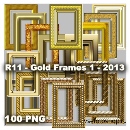 Gold Frames  PNG Files