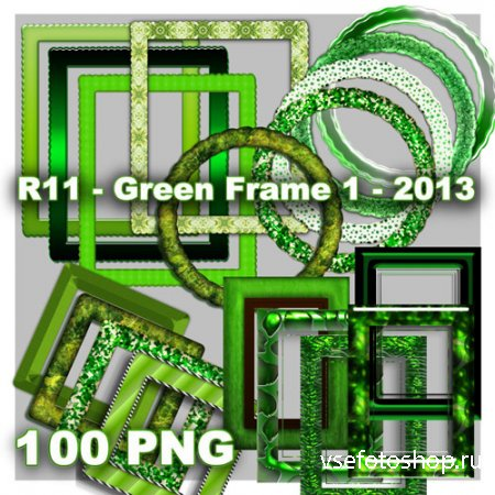 Green Frames PNG Files